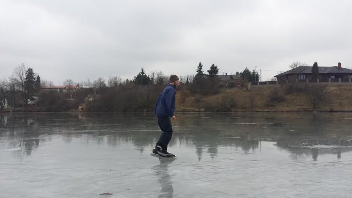 22.2.2015: Bruslení na Šeberáku na jarním ledě